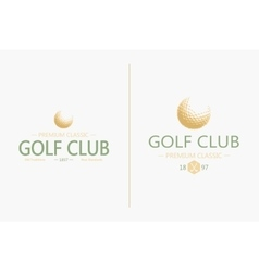 Golf labels and badges made in  golf vector