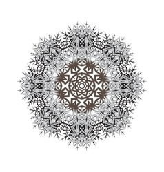 Round ornamental shape pattern of vector
