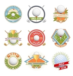 Golf club logo set vector