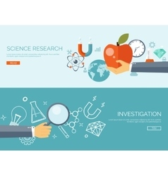 Flat research background vector