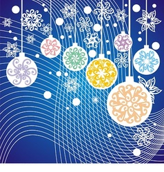 Christmas postcard with decoration vector