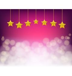 golden stars vector image