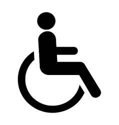 Wheel chair symbol vector