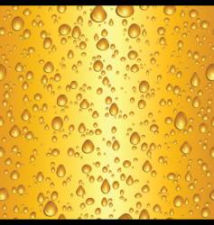 beer water drops vector image