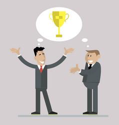 businessmen celebrate victory vector image