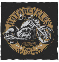 California motorcycles parts poster vector
