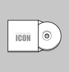 cd cover template dwd vector image