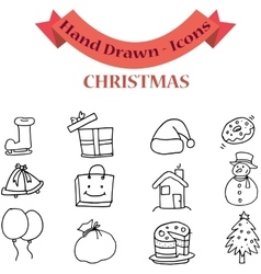 Christmas element set of art vector