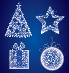 Christmas glow set vector image
