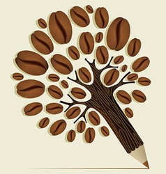 Coffee beans concept tree vector image