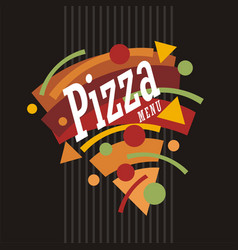 Colorful pizza menu template vector