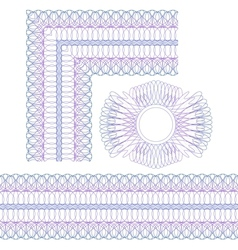 Corner border and rosette vector image vector image
