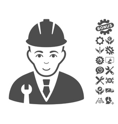 Developer icon with tools bonus vector