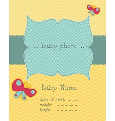 greeting baby card vector image vector image