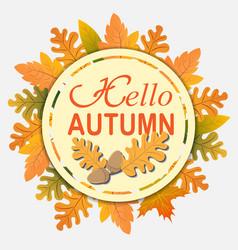 hello autumn vector image
