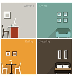 Interior concept of graphic collection design vector image