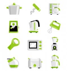Kitchen object set vector