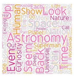 LookuUp in the Sky text background wordcloud vector image vector image