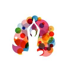 Meditation and yoga vector image vector image