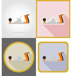 Repair tools flat icons 01 vector