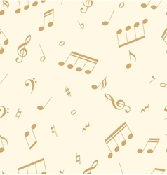 Seamless abstract pattern with music symbols vector image