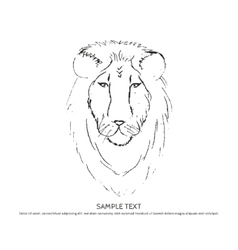 Sketch lion head vector