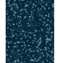 Snowfall seamless pattern vector