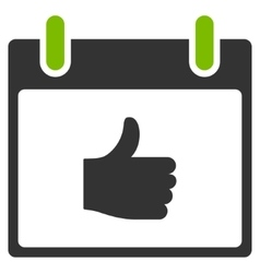 Thumb up calendar day flat icon vector
