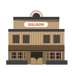 Vintage saloon building vector