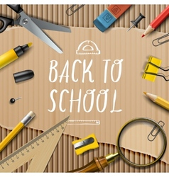 Welcome Back to school template with schools vector image