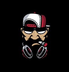 Hiphop mascot vector
