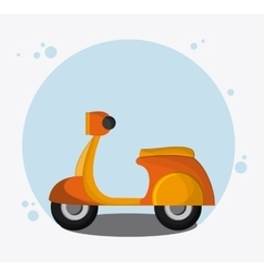 Motorcycle transportation vehicle travel vector