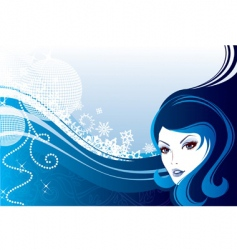 girl winter vector image