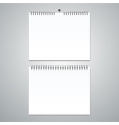 Realistic Calendar Template Blank Set vector image