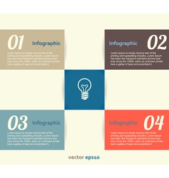 Infographic Banner vector image