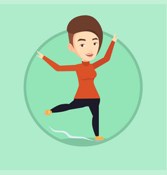 female figure skater vector image