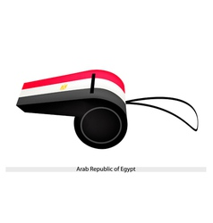A whistle of arab republic of egypt vector