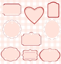 Lovely frames vector
