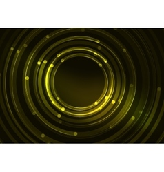 Abstract color glowing lines in dark space with vector