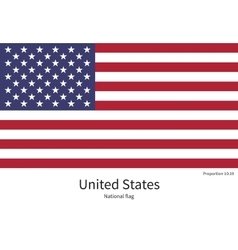 National flag of united states with correct vector