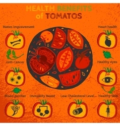 Tomatoes benefits image vector