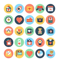 Love and romance icons 2 vector