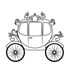 Horse carriage object icon vector