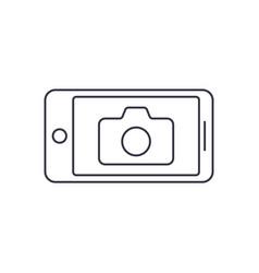camera application smart phone editable stroke vector image