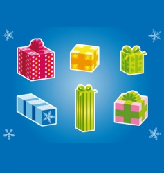 Christmas gifts vector