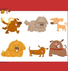 cute dog cartoon characters set vector image vector image