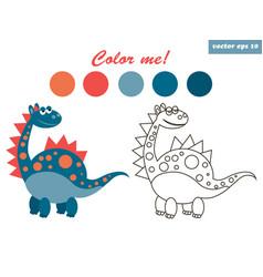 Dinosaur coloring vector