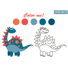 dinosaur coloring vector image vector image