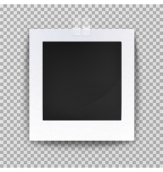 Empty photo backdrop or old blank frame vector