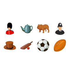 England country icons in set collection for design vector